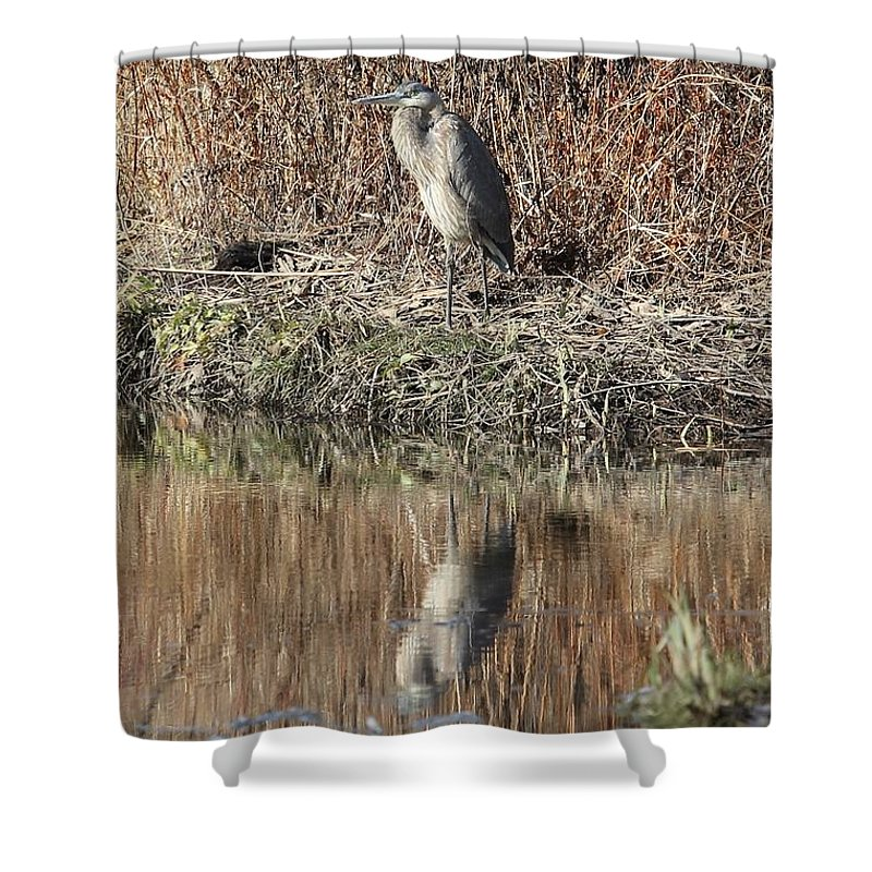 Hudson River Shower Curtain featuring the photograph Time To Reflect by Charles Van Wagenen Jr