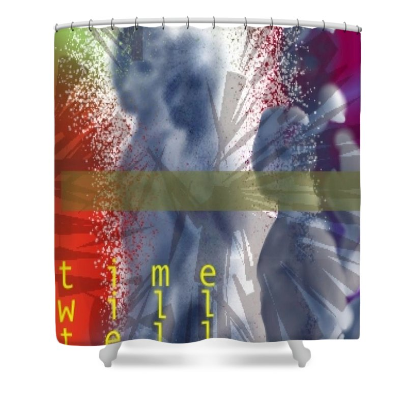 Afterlife Dream Surreal People Shower Curtain featuring the digital art Time will tell by Veronica Jackson