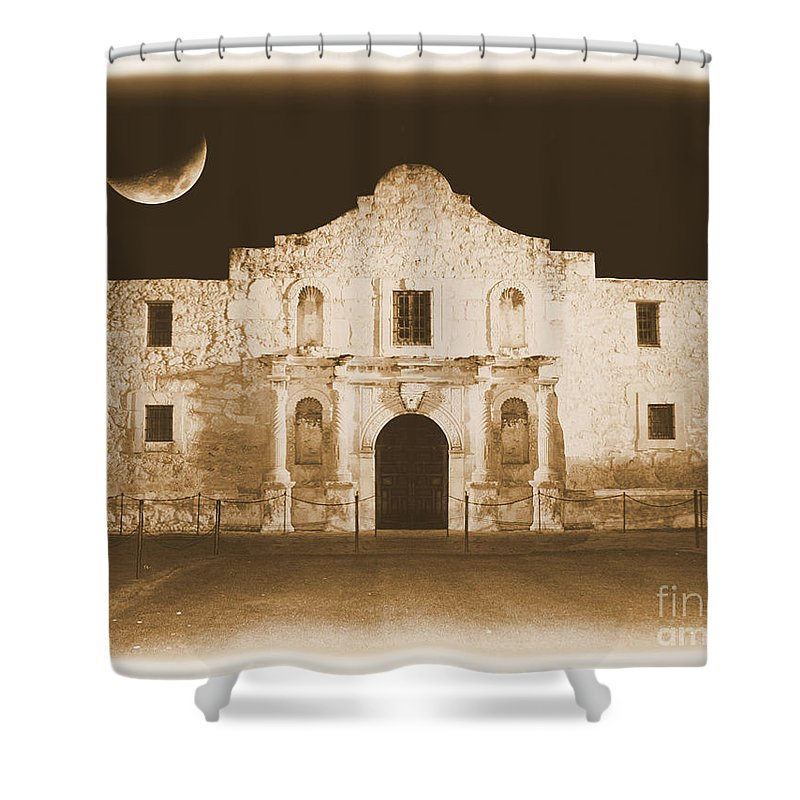 The Alamo Shower Curtain featuring the photograph Timeless Alamo by Carol Groenen