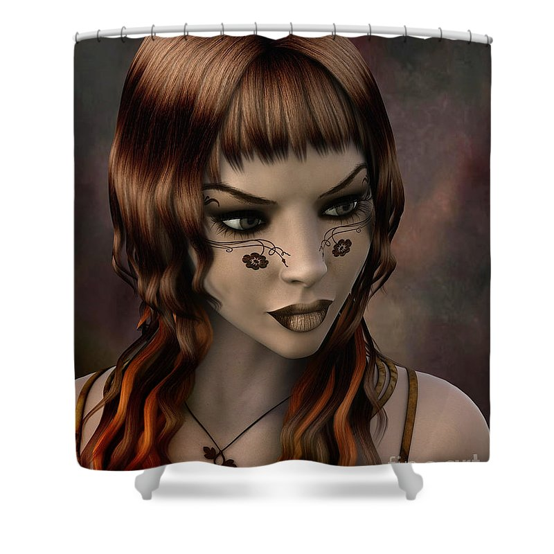 3d Shower Curtain featuring the digital art Timeless Grace by Jutta Maria Pusl