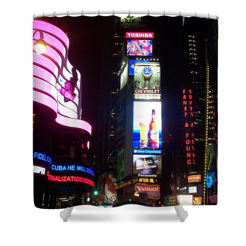 Times Square Shower Curtain featuring the photograph Times Square 1 by Anita Burgermeister