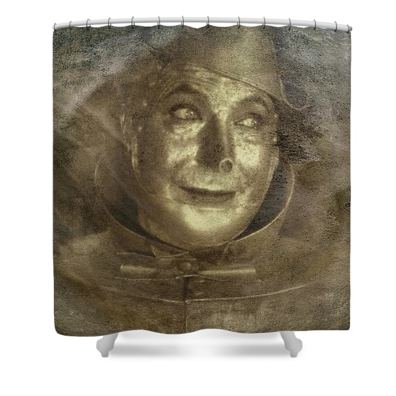 Tin-man Shower Curtain featuring the digital art Tinman by Movie Poster Prints