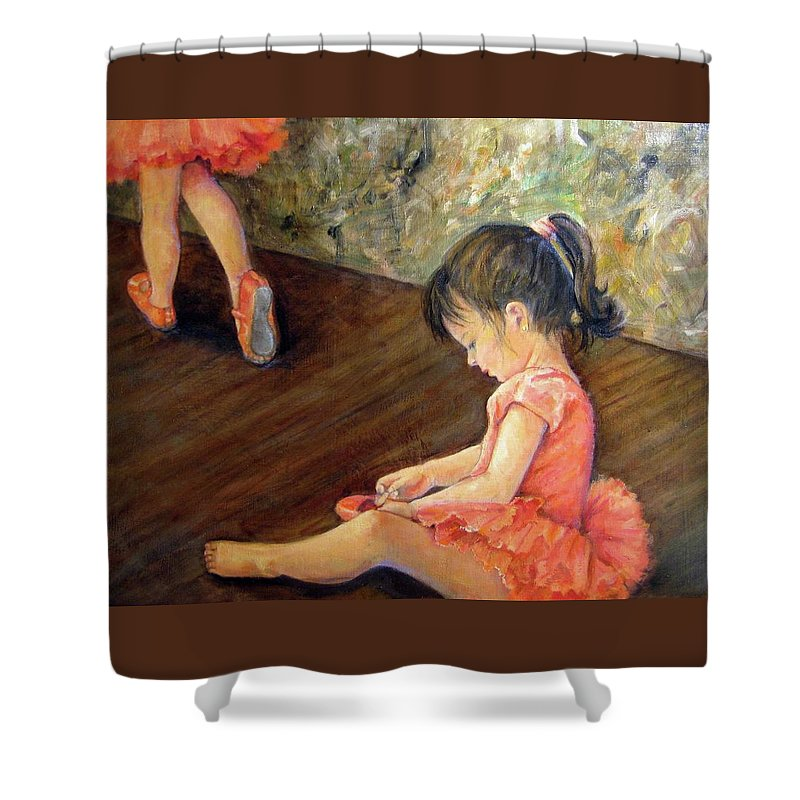 Human Shower Curtain featuring the painting Tiny Dancer by Donna Tucker