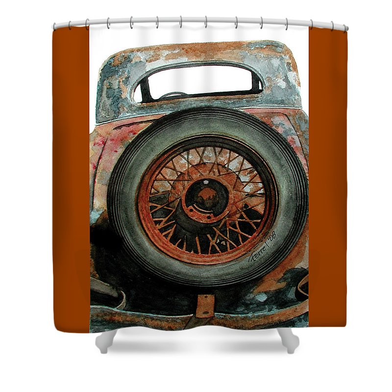 Car Shower Curtain featuring the painting Tired by Ferrel Cordle