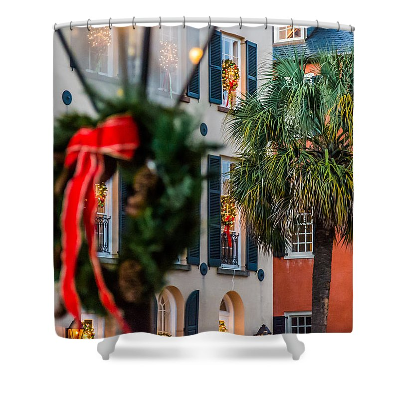 Charleston Shower Curtain featuring the photograph Tis The Season - Charleston Sc by Donnie Whitaker