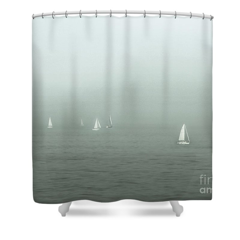 Blue Shower Curtain featuring the photograph To Come Upon The Solstice And Have No Fear by Dana DiPasquale