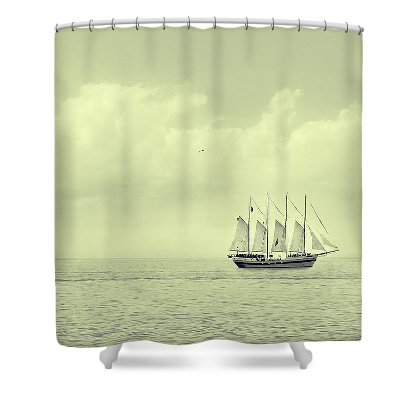 Ship Shower Curtain featuring the photograph To Hold Time In Your Hand by Dana DiPasquale