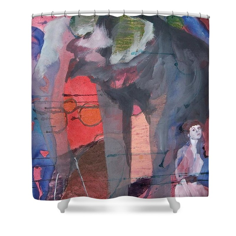 Watercolor Shower Curtain featuring the painting To Jean, The King Of Spain by Jessa Eiser