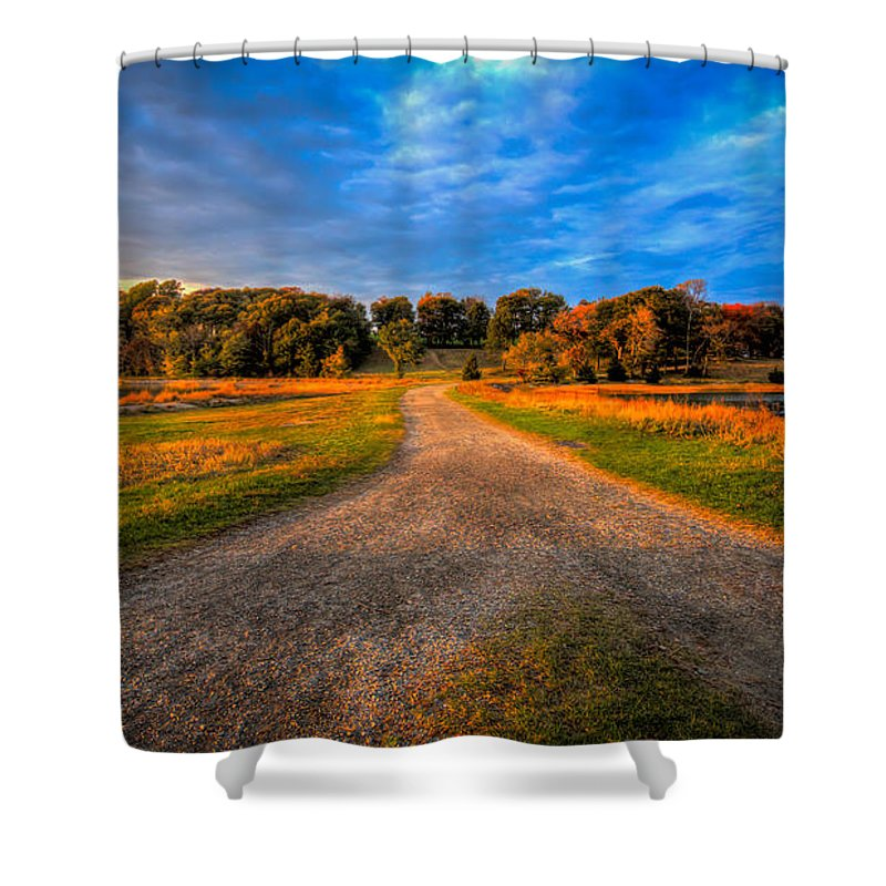 Shower Curtain featuring the photograph To The End Of The World by David Henningsen