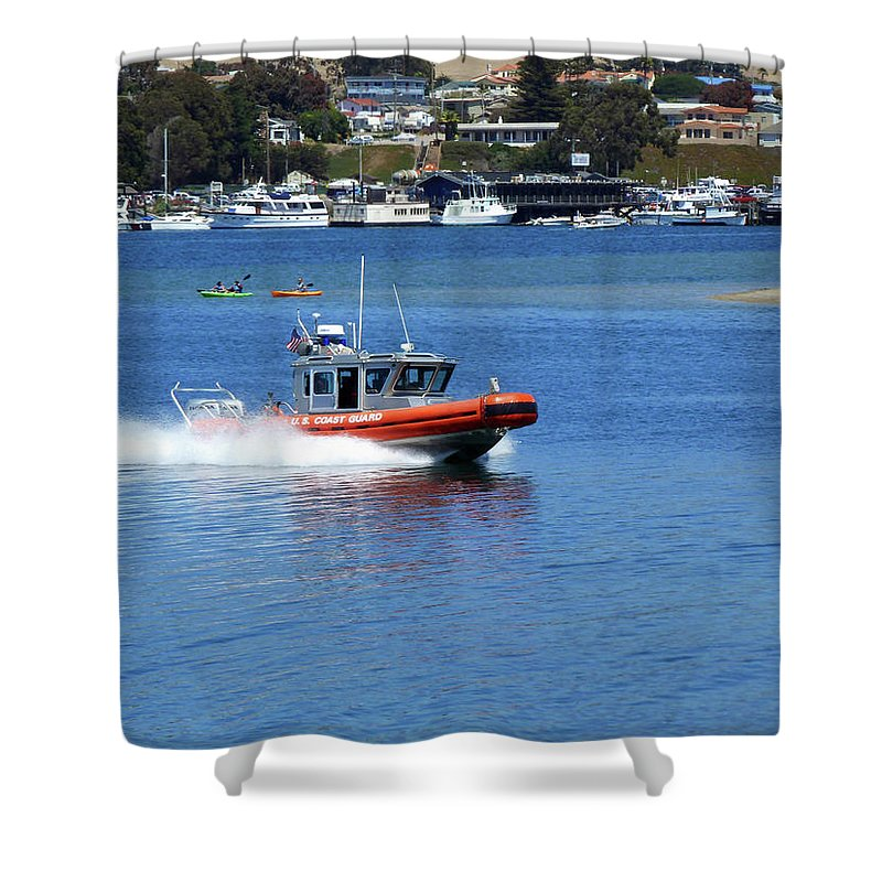 To The Rescue Shower Curtain featuring the photograph To The Rescue by Methune Hively
