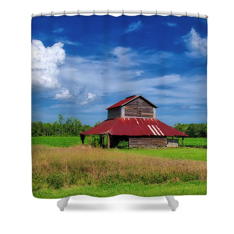 Barn Shower Curtain featuring the photograph Tobacco Barn by TJ Baccari