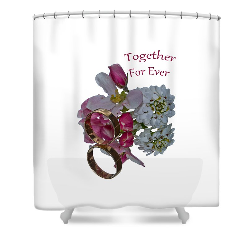 Congratulation Cards Shower Curtain featuring the photograph Together For Ever by Dave Byrne