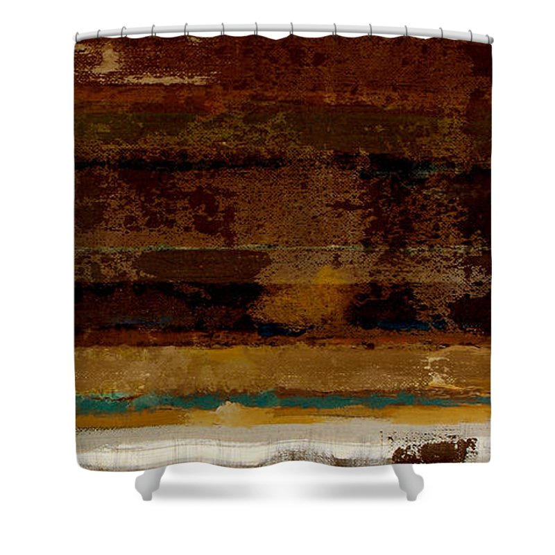 Abstract Shower Curtain featuring the painting Togetherness II by Ruth Palmer