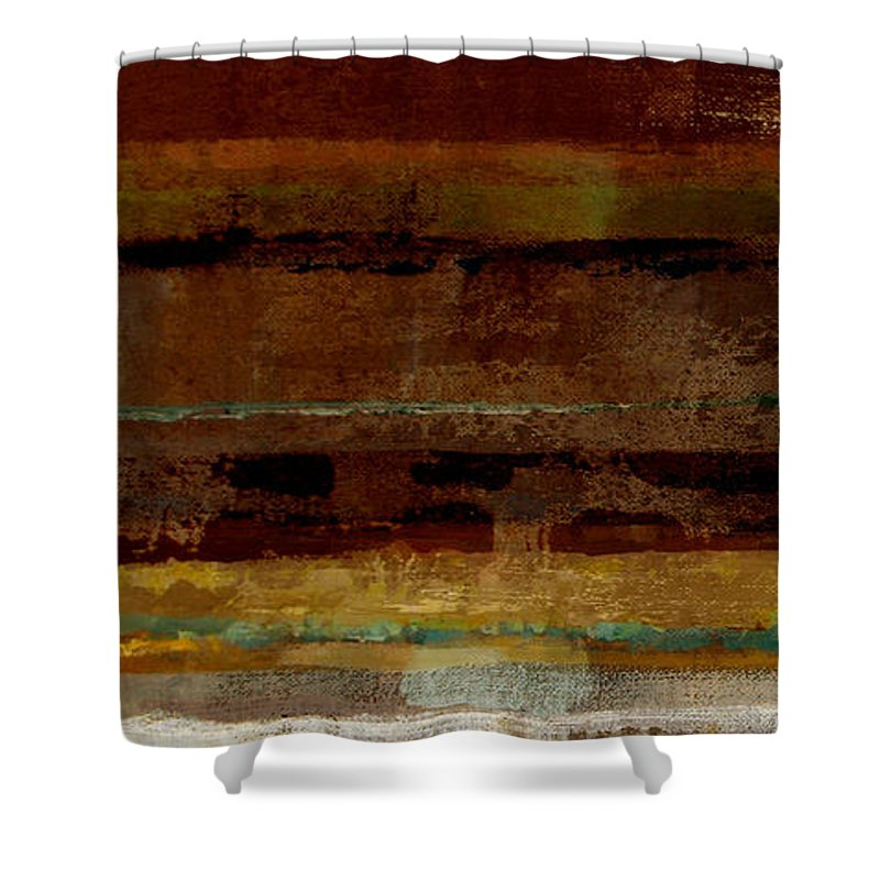 Abstract Shower Curtain featuring the painting Togetherness by Ruth Palmer