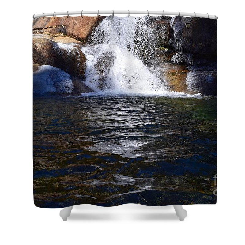 Blue Shower Curtain featuring the photograph Tokopah Falls Trail by Will Sylwester