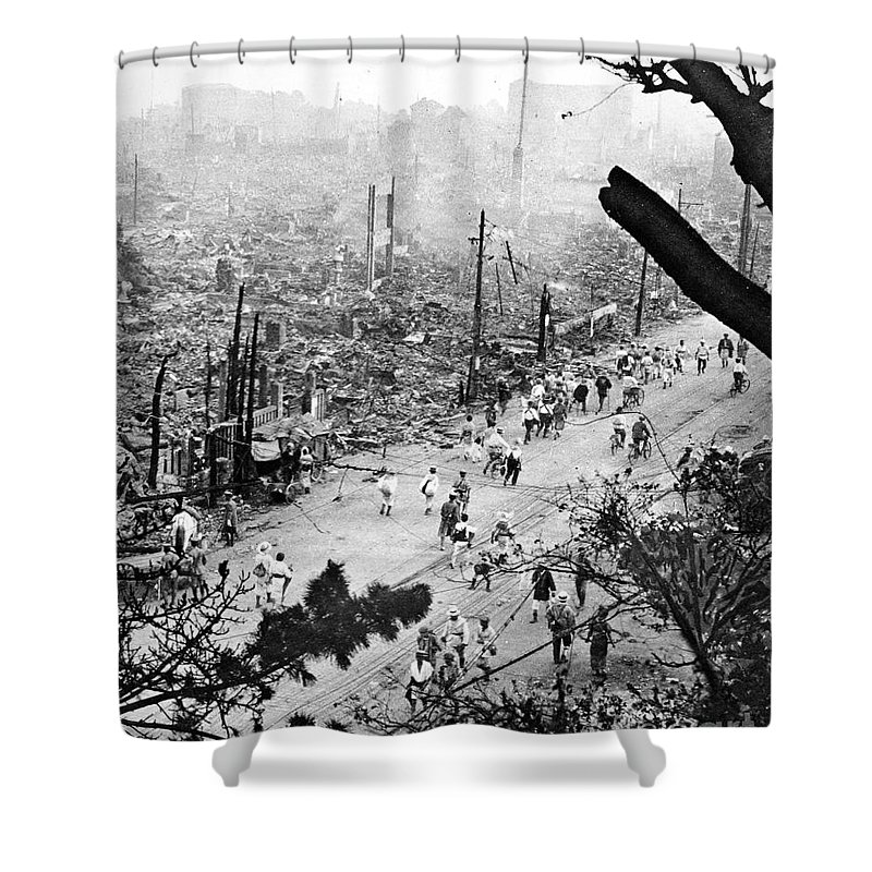 1923 Shower Curtain featuring the photograph Tokyo Earthquake, 1923 by Granger