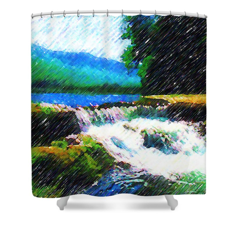 Landscape Shower Curtain featuring the photograph Tolhuaca by Madalena Lobao-Tello
