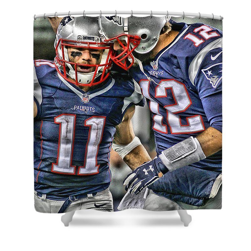 New England Paintings Shower Curtains