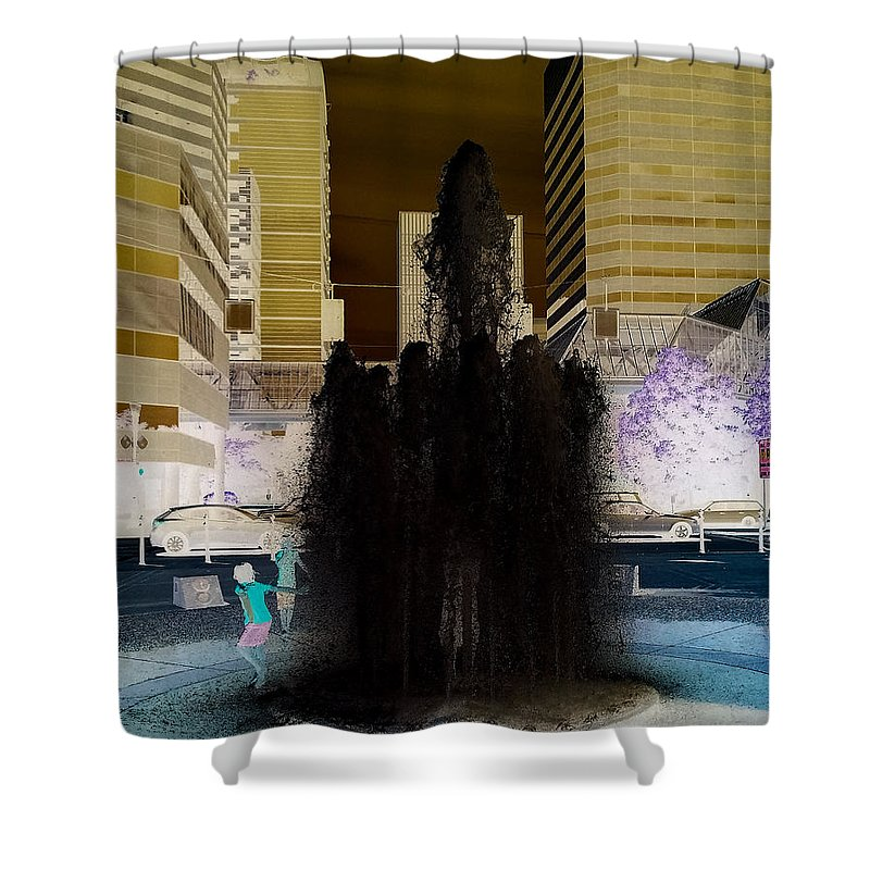 Invert Shower Curtain featuring the photograph Tom Mccall Waterfront Fountain by Melissa Coffield