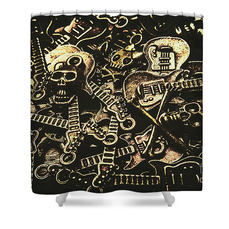 Punk Shower Curtain featuring the photograph Tones Of Hard Rock by Jorgo Photography - Wall Art Gallery