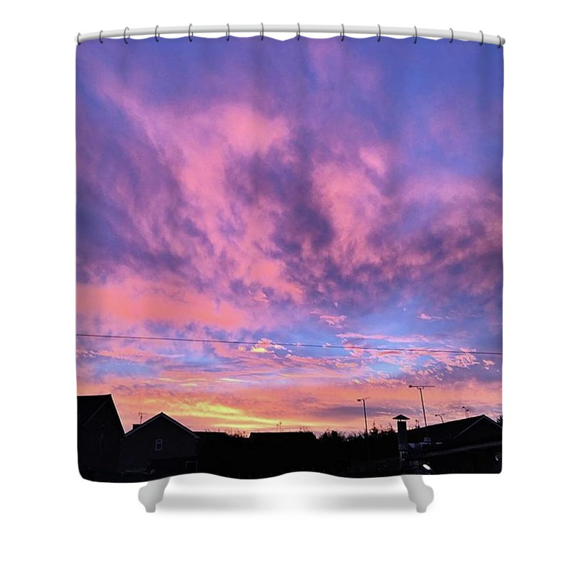 Natureonly Shower Curtain featuring the photograph Tonight's Sunset Over Tesco :) #view by John Edwards