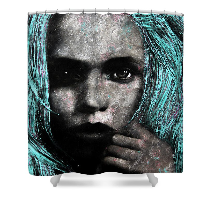 Pop Shower Curtain featuring the painting Too Good by Lili Leonardo