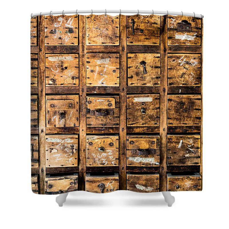 Tool Drawers Shower Curtain featuring the photograph Drawers by M G Whittingham