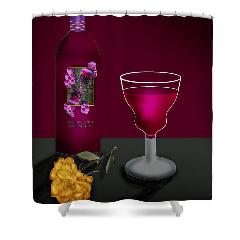 Still Life Shower Curtain featuring the painting Tools of the Trade by Anne Norskog
