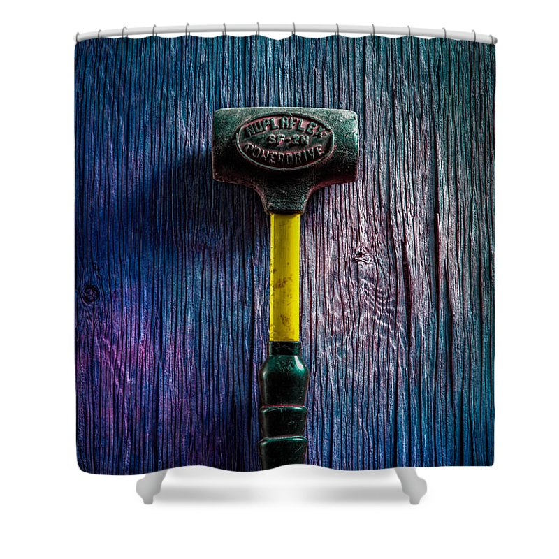 Bead Shower Curtain featuring the photograph Tools On Wood 44 by YoPedro