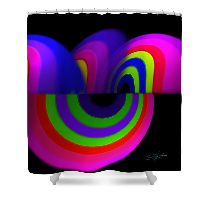 Oil Shower Curtain featuring the painting Toon by Charles Stuart