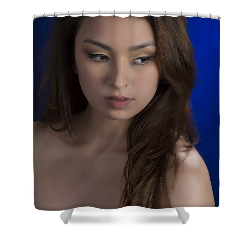 Toriwaits Shower Curtain featuring the photograph Toriwaits Nude Fine Art Print Photograph In Color 5072.02 by Kendree Miller