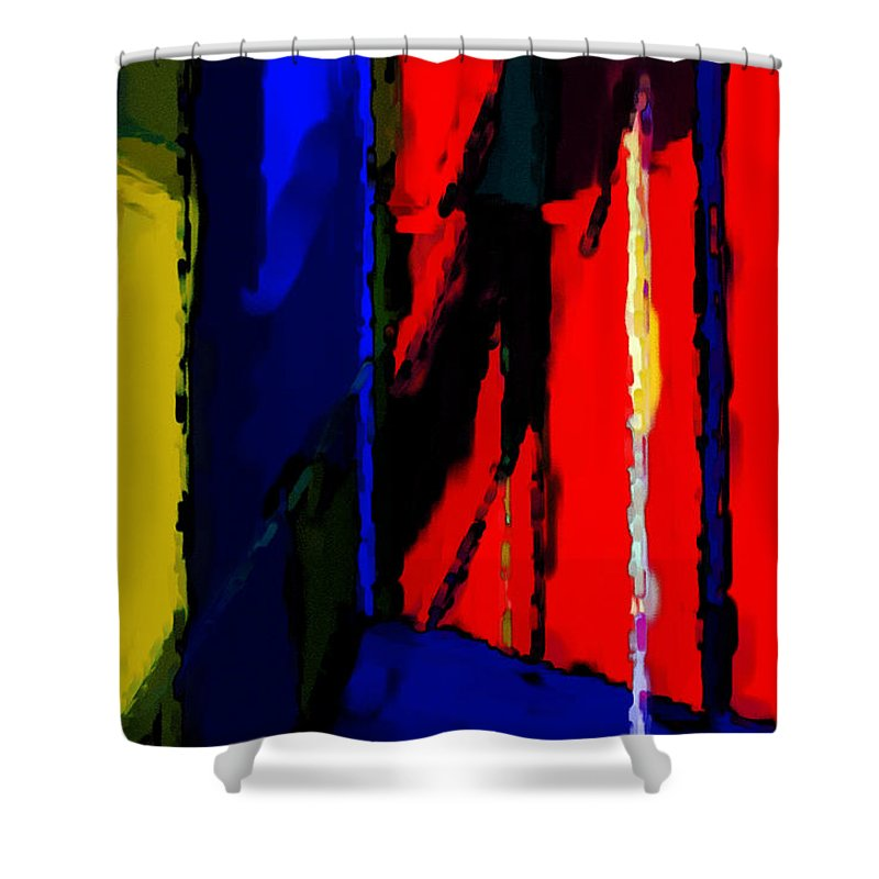 Torment Shower Curtain featuring the digital art Torment by Richard Rizzo