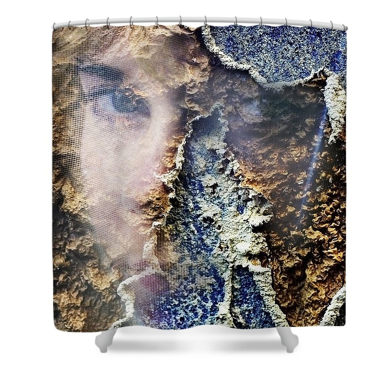 Female Shower Curtain featuring the photograph Torn by Skip Hunt