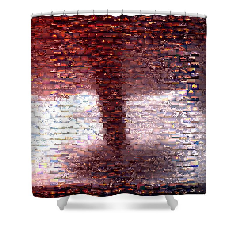 Wind Shower Curtain featuring the mixed media Tornado From Sunsets Mosaic by Paul Van Scott