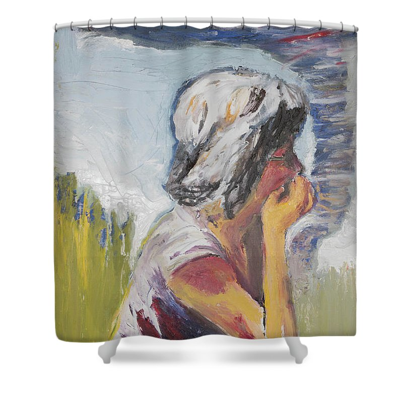 Tornado Shower Curtain featuring the painting Tornado Girl by Craig Newland