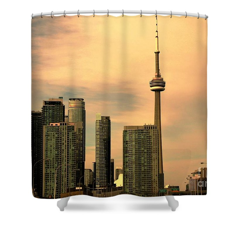 Toronto Shower Curtain featuring the photograph Toronto Cityscape by Anthony Djordjevic