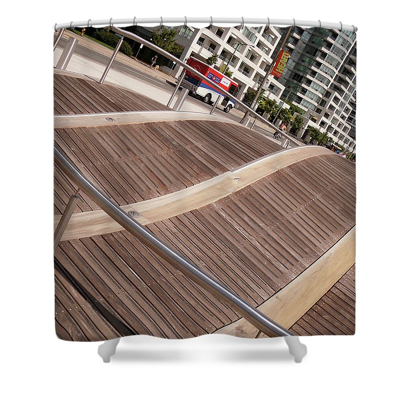 Marwan George Khoury Shower Curtain featuring the photograph Toronto's Harbourfront by Marwan George Khoury