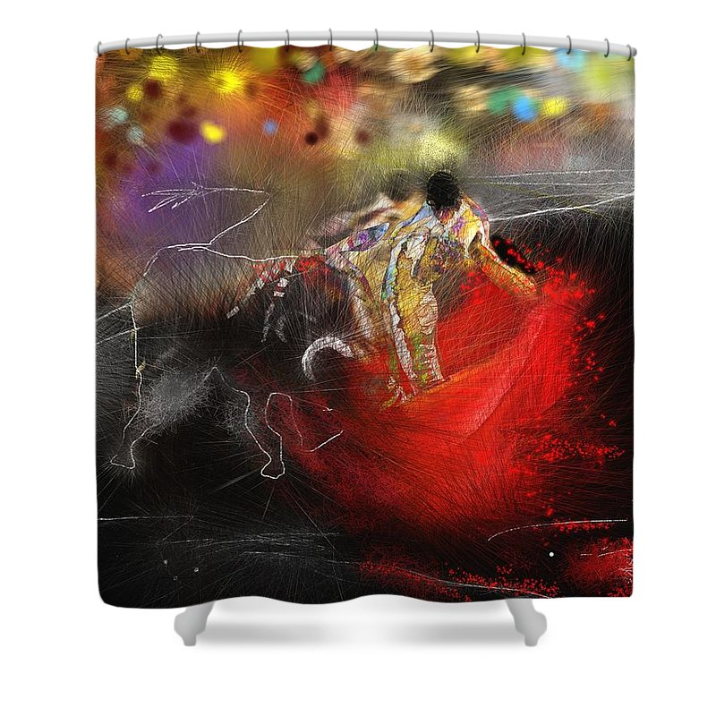 Animals Shower Curtain featuring the painting Toroscape 18 by Miki De Goodaboom