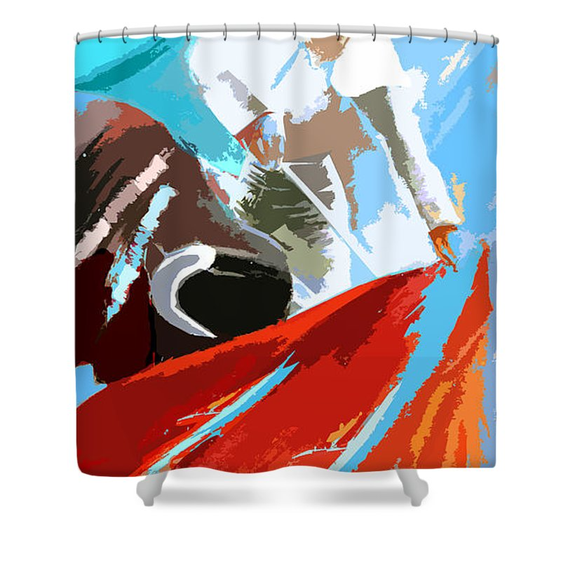 Animals Shower Curtain featuring the painting Toroscape 32 by Miki De Goodaboom