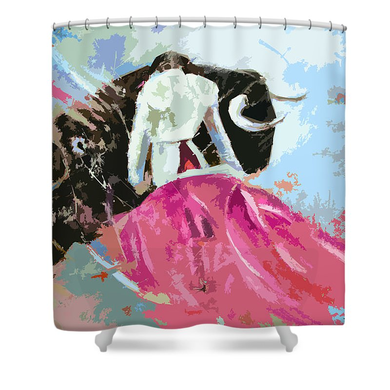Animals Shower Curtain featuring the painting Toroscape 34 by Miki De Goodaboom