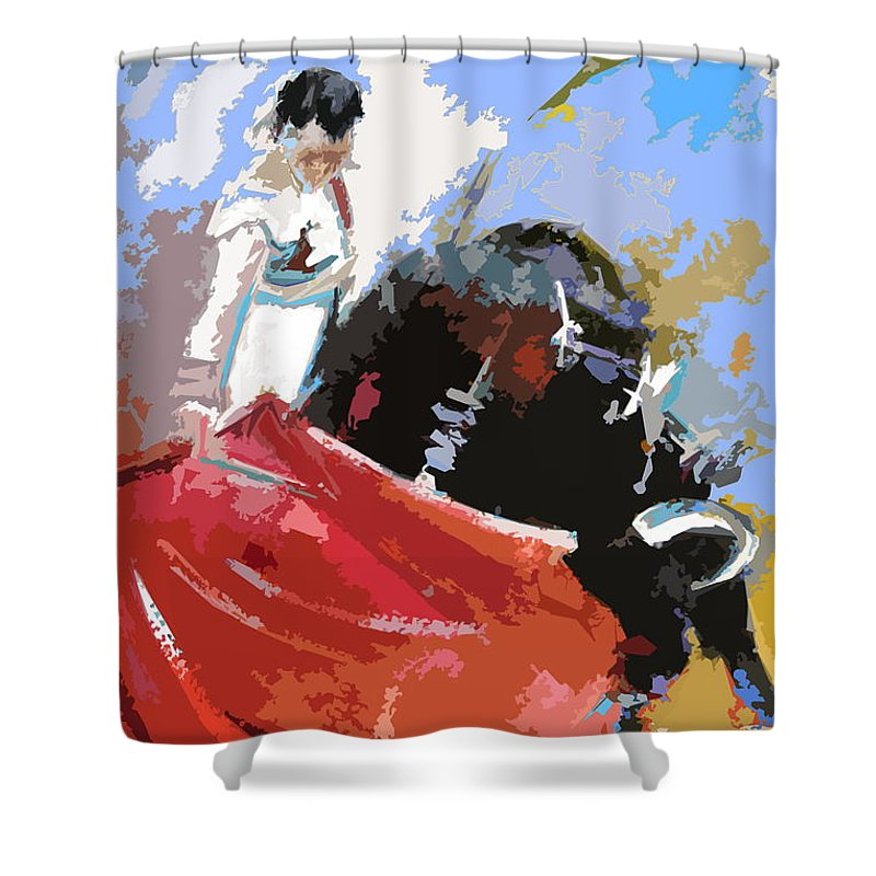 Animals Shower Curtain featuring the painting Toroscape 36 by Miki De Goodaboom