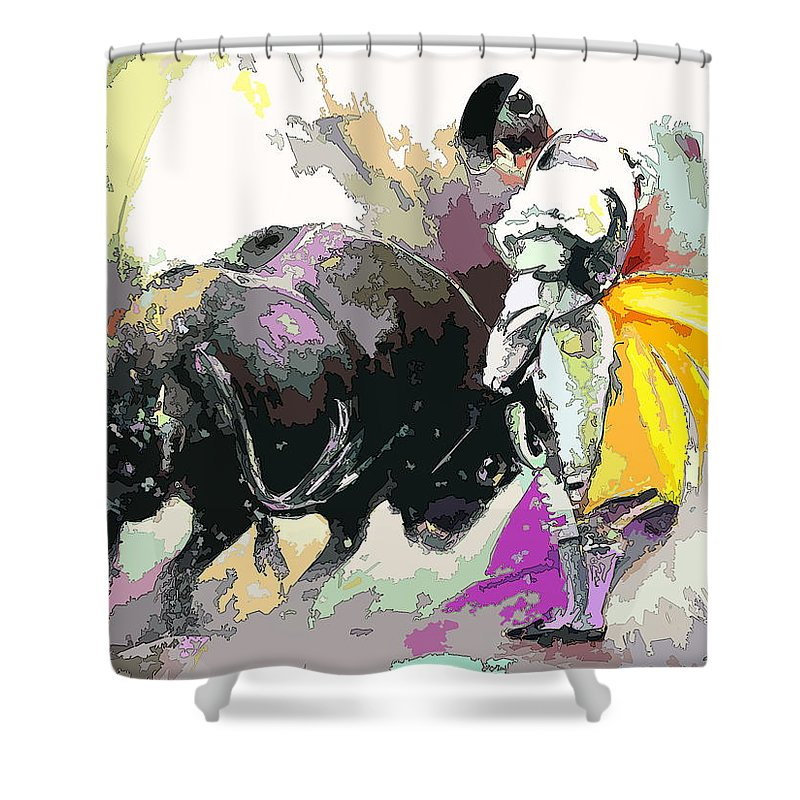 Animals Shower Curtain featuring the painting Toroscape 39 by Miki De Goodaboom