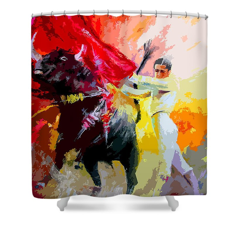 Animals Shower Curtain featuring the painting Toroscape 41 by Miki De Goodaboom