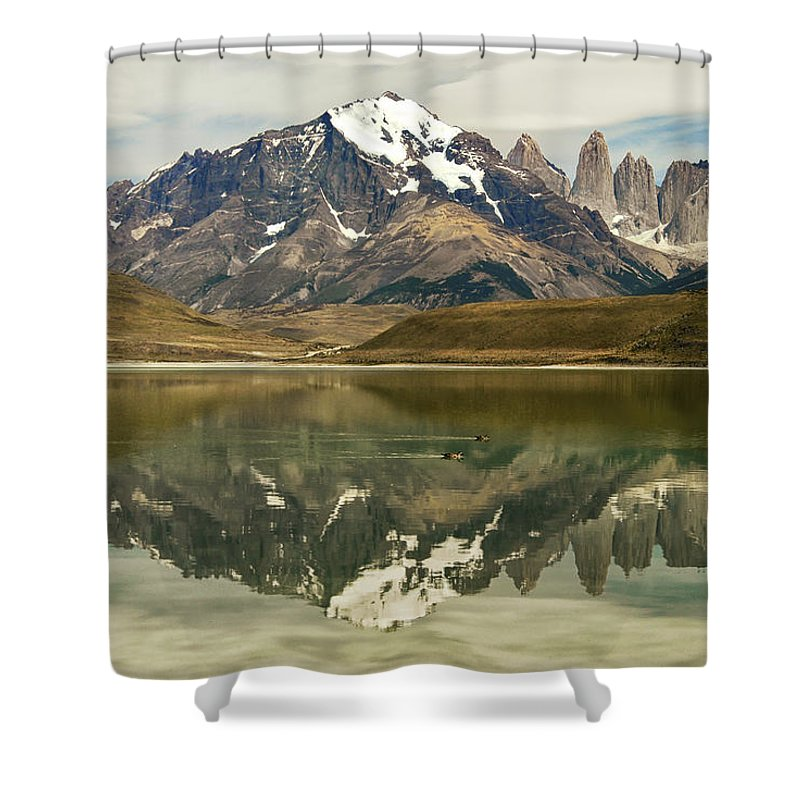 Chile Shower Curtain featuring the photograph Torres Del Paine by Alan Toepfer