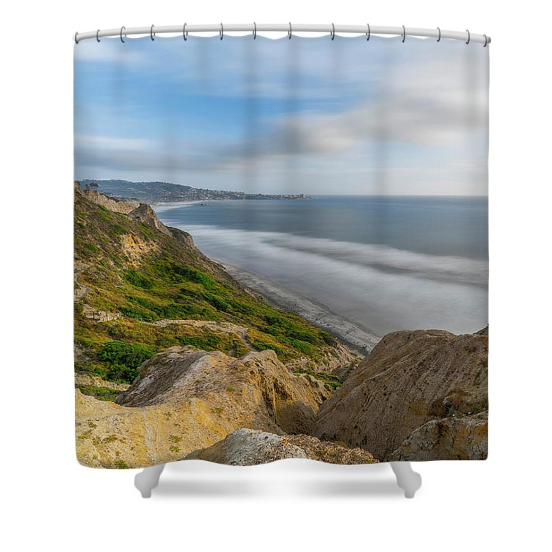 Beach Shower Curtain featuring the photograph Torrey Pines, San Diego Beach, California by Ryan Kelehar