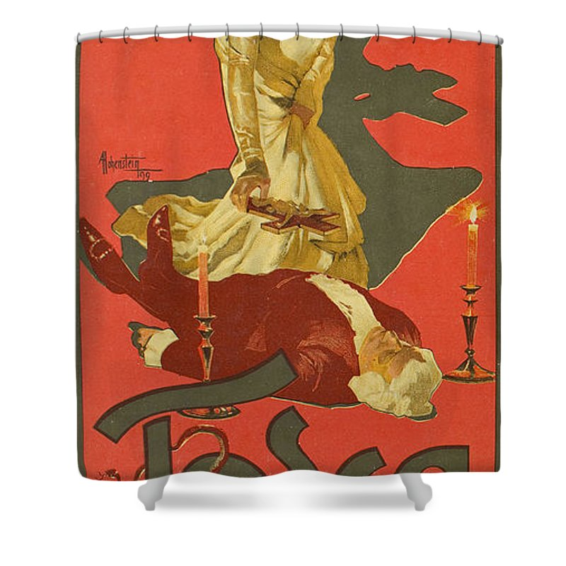 Exceptionnel Adolf Hohenstein Shower Curtain Featuring The Drawing Tosca By Adolf  Hohenstein