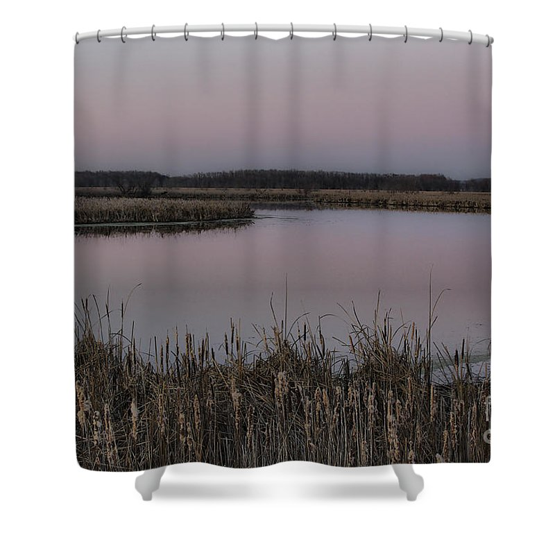 Light Shower Curtain featuring the photograph Total Peace And Calm by Deborah Benoit