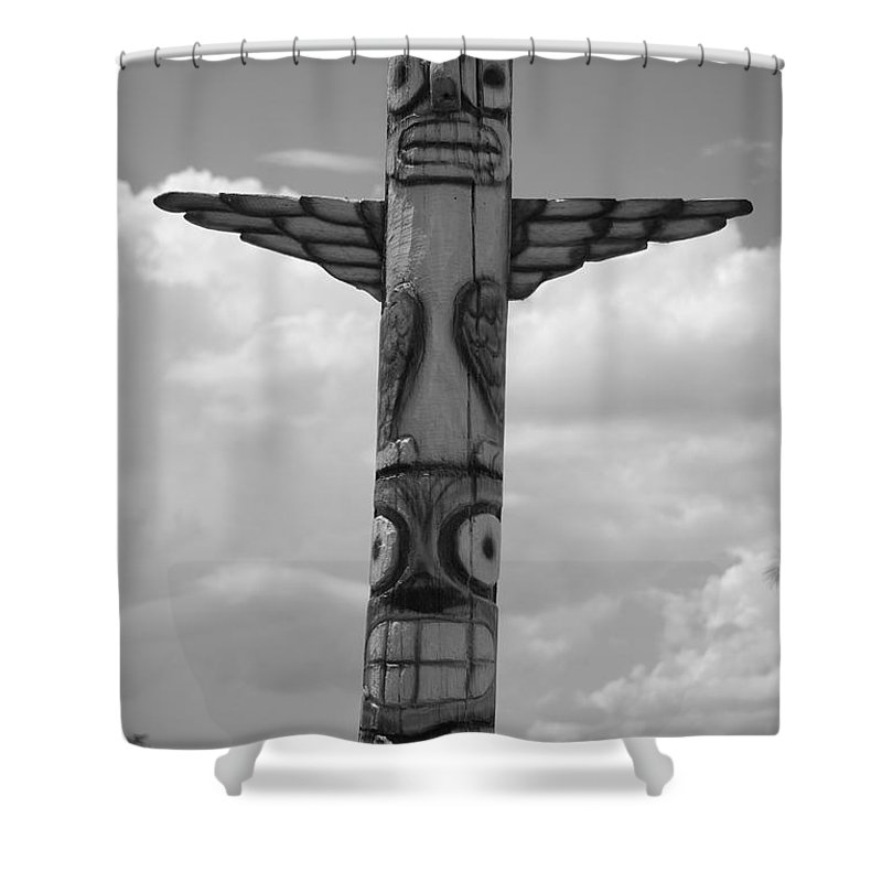 Black And White Shower Curtain featuring the photograph Totum by Rob Hans