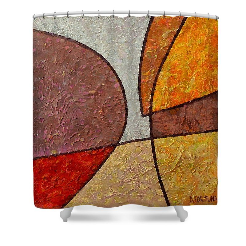 Mixed Media Shower Curtain featuring the mixed media Touch by Dragica Micki Fortuna