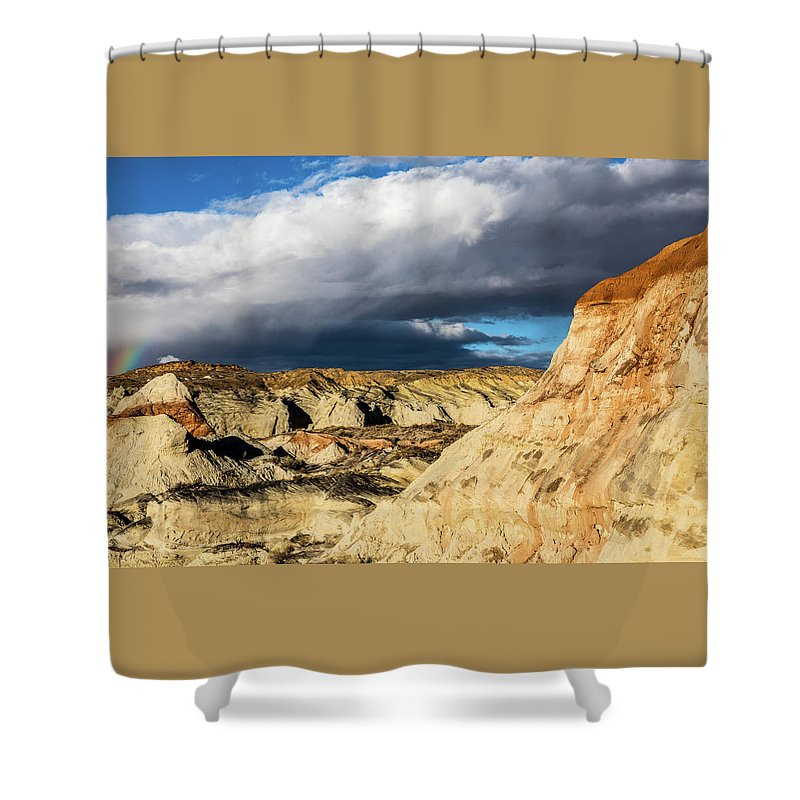 Utah Shower Curtain featuring the photograph Touch Of A Rainbow by James Marvin Phelps